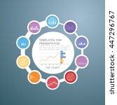 pie chart in 10 steps or... | Shutterstock .eps vector #447296767