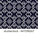 oriental ethnic seamless... | Shutterstock .eps vector #447298267