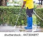 Outdoor Floor Cleaning With...