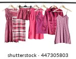 group of pink clothes on... | Shutterstock . vector #447305803