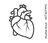 realistic heart icon isolated...