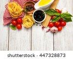 italian food ingredients on a... | Shutterstock . vector #447328873