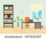 home or office workplace with... | Shutterstock .eps vector #447329287