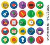 education icons set. school ... | Shutterstock .eps vector #447331003