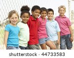 group of children playing in... | Shutterstock . vector #44733583
