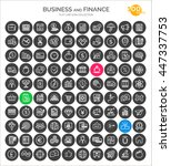 set of business  finance and... | Shutterstock .eps vector #447337753
