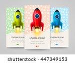 modern vertical banner with a... | Shutterstock .eps vector #447349153