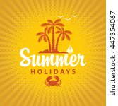 travel banner summer vacation... | Shutterstock .eps vector #447354067