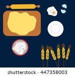 food and dough preparation | Shutterstock .eps vector #447358003