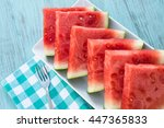 Watermelon Slices On A Plate I...