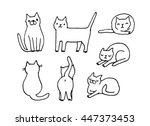 vector image with funny hand...   Shutterstock .eps vector #447373453