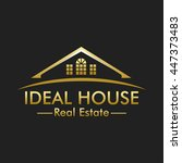 ideal house real estate logo