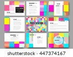 set of 9 vector templates for... | Shutterstock .eps vector #447374167