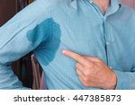 problem with sweating  ... | Shutterstock . vector #447385873