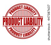 product liability grunge rubber ... | Shutterstock .eps vector #447387637