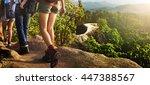 trek hiking destination... | Shutterstock . vector #447388567