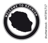 welcome to reunion vector logo... | Shutterstock .eps vector #447391717