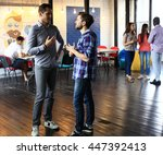 group of young business people  ... | Shutterstock . vector #447392413