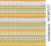uncommon ethnic pattern.... | Shutterstock .eps vector #447397177