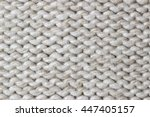 unusual abstract knitted... | Shutterstock . vector #447405157