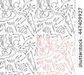 vector hand drawn by pen arrows ... | Shutterstock .eps vector #447409927