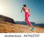 woman running. young girl... | Shutterstock . vector #447422737