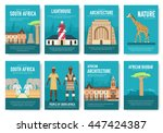 set of south africa country... | Shutterstock .eps vector #447424387