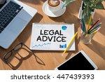 legal advice  legal advice... | Shutterstock . vector #447439393