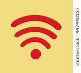 wifi signal logo vector | Shutterstock .eps vector #447440137