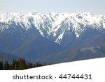 hurricane ridge snow capped...   Shutterstock . vector #44744431