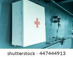 first aid box hang on the wall | Shutterstock . vector #447444913