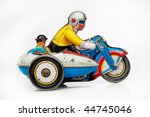 Antique Tin Toy Motorbike Racer