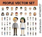 diversity community people flat ... | Shutterstock .eps vector #447460927