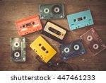 top view  above  shot of retro...   Shutterstock . vector #447461233