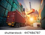 Business Logistics Concept  Ma...