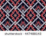 oriental ethnic seamless... | Shutterstock .eps vector #447488143