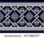 oriental ethnic seamless... | Shutterstock .eps vector #447488197