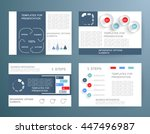 vector set cards for business... | Shutterstock .eps vector #447496987
