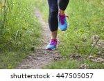 runner training outdoors | Shutterstock . vector #447505057