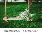 bouquet of flowers on the tree... | Shutterstock . vector #447507037
