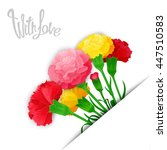 with love. vector template of... | Shutterstock .eps vector #447510583