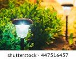 decorative small solar garden... | Shutterstock . vector #447516457