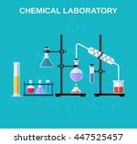 chemistry laboratory workspace... | Shutterstock . vector #447525457