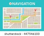 map gps navigator. mobile... | Shutterstock .eps vector #447546103