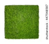 square of green grass field... | Shutterstock . vector #447548587