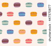 cute hand drawn pattern with... | Shutterstock .eps vector #447570877