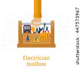 toolbox electrician.... | Shutterstock .eps vector #447573967