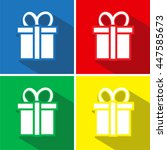 gift flat icons set
