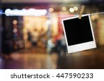 photo frame paper hanging on...   Shutterstock . vector #447590233