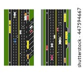 highway planning. roads ... | Shutterstock .eps vector #447594667